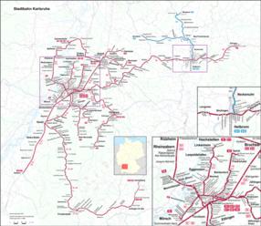 Netzplan Karlsruhe