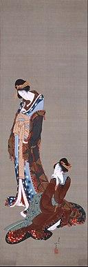 Katsushika Hokusai - TWO BEAUTIES - Google Art Project