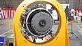Kawasaki-Honeywell T55-K-712 turboshaft Engine front view at JASDF Komaki Air Base March 13, 2016.jpg
