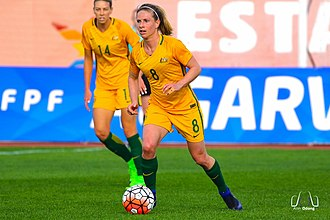 Elise Kellond-Knight - Kellond-Knight playing for the Australia at the 2017 Algarve Cup