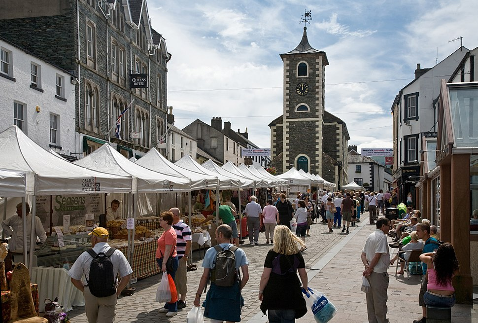 Keswick Saturday Market, Cumbria - June 2009