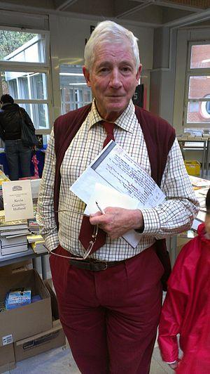 Kevin Crossley-Holland - Crossley-Holland at Vienna International School in 2012
