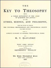 The Key to Theosophy cover