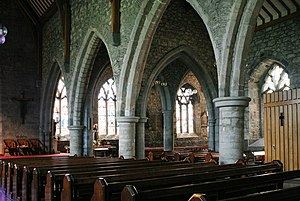 Black Abbey - The interior of Black Abbey, the nave and transept
