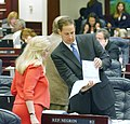 Kim Berfield confers with Joe Negron on the House floor.jpg