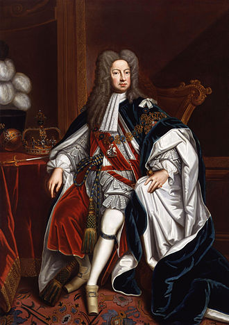 George I of Great Britain - Portrait from the studio of Sir Godfrey Kneller, c. 1714