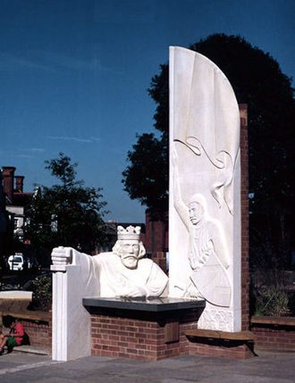 Egham - King John Sculpture by David Parfitt