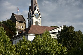 House of Rapperswil - Uster castle and St. Andreas Church, first mentioned in 1099