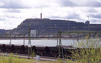 Iron Ore Line - Hopper cars in Kiruna
