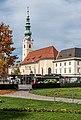 Klagenfurt Innere Stadt Heiligengeistplatz Heiligengeistkirche SO-Ansicht 18102017 1592.jpg