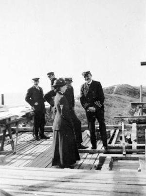 Klitgaarden - Queen Alexandrine inspecting the construction site in 1913