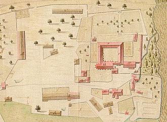 Isenhagen Abbey - 1742 site plan
