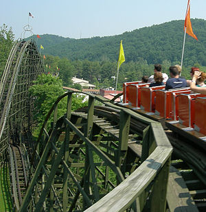 Ralpho Township, Northumberland County, Pennsylvania - The Phoenix in Knoebels Amusement Resort is in Ralpho Township