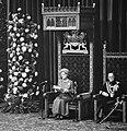 Koningin Juliana spreekt de troonrede uit in de Ridderzaal, naast haar prins Ber, Bestanddeelnr 926-6905.jpg
