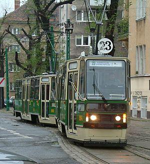 Trams in Poznań - Historical tram, designed 1973.