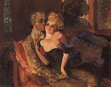 Konstantin Somov Lovers in the Evening 1910.jpg