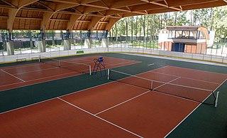 Carpet court type of tennis court