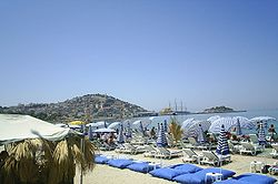 View of Kuşadası from the beach