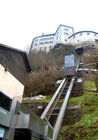 Festungsbahn (Kufstein) - The Kaiser Maximilian Funicular at Kufstein Fortress in 2016