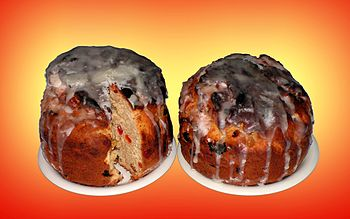 Kulichs (kulich is a kind of Easter cake, trad...