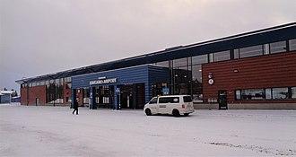 Kuusamo Airport - Image: Kuusamo Airport landside 2017 11 27