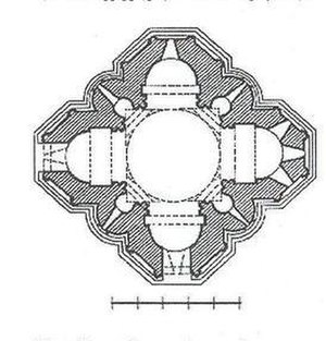Kvetera Church - Image: Kvetera church plan