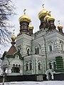 Kyiv Pokrova Monastery - Mykolaivskyi cathedral close view.jpg