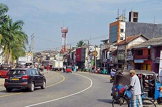Aluthgama Town in Sri Lanka