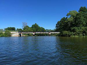 Lake State Railway - Lake State Railway bridge over Au Sable River near Oscoda