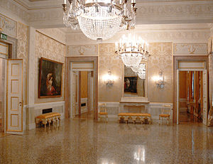 One of the foyers, Teatro La Fenice, Venezia, ...