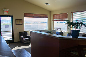 La Grande/Union County Airport - Waiting room at LGD