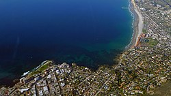 Aerial photo of part of La Jolla