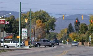 Laporte, Colorado - Laporte, looking westward along the main highway