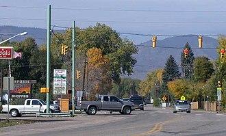 Laporte, Colorado - Laporte, looking westward along the main highway