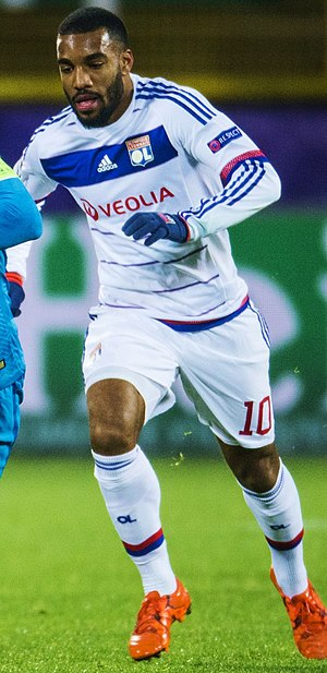 Alexandre Lacazette - Lacazette playing for Lyon in 2015