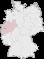Lage der kreisfreien Stadt Düsseldorf in Deutschland.png