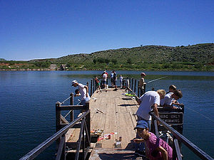 Lake Meredith National Recreation Area - The Small Fry fishing tournament in the Stilling Basin at Lake Meredith