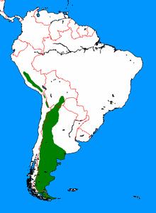 Лама диапазон guanicoe map.png
