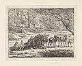 Landschap met een door twee paarden getrokken kar Landschappen (serie C) (serietitel), RP-P-OB-24.229.jpg