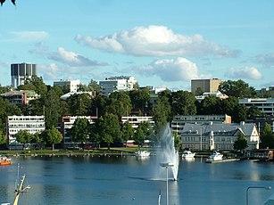 Der See und die Stadt von der Festung aus betrachtet