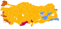 Largest party per province 2007 Election.png