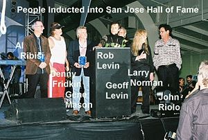 People! - People! at installation into San Jose Rocks! Hall of Fame in 2007