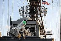Laser Weapon System aboard USS Ponce (AFSB(I)-15) in November 2014 (05).JPG