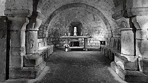 Lastingham - The altar in Lastingham crypt