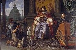 David overrækker brevet med Urias dødsdom til ham.