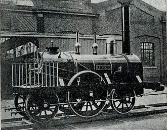 """History of rail transport in Belgium - Le Belge (""""The Belgian""""; 1835) was the first steam locomotive built in continental Europe"""