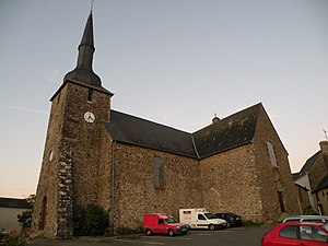 Le Bourgneuf-la-Forêt - The church in Le Bourgneuf-la-Forêt