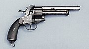 The LeMat Revolver, an unusual revolver from the American Civil War era with 9 revolving chambers firing bullets and a center barrel firing shot.