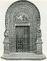 Lecce porta maggiore del tempio dei Santi Nicolò e Cataldo xilografia di Mantellio.jpg