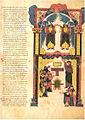 Leon Bible of 960 - El Arca de la Alianza en el templo de Salomón.jpg